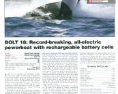 Fast Electric Boat - Bolt 18 RINA Significant Small Ships 2012