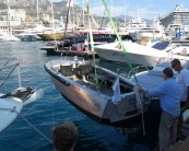 Fast Electric Boat - Bolt 18 being lifted