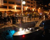 Fast Electric Boat - Bolt 18 - Night time shot at Monaco