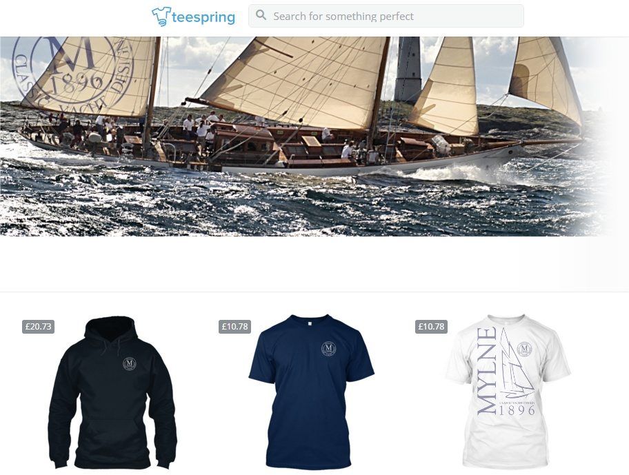 Mylne Yacht Clothing with TeeSpring