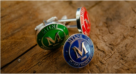 mylne port and starboard cufflinks and pin