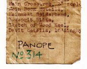 Panope 1927 - drawing roll label