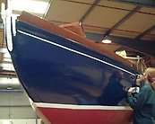 Windhover II (ex Sapphire) 1900, canoe stern added 1935 - taken during previous restoration work some years ago